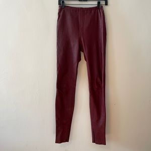 Jean Paul Gaultier leather lamb Bordeaux pants